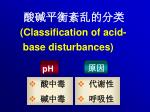 classification of acid base disturbances1