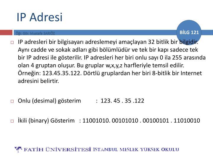 IP Adresi