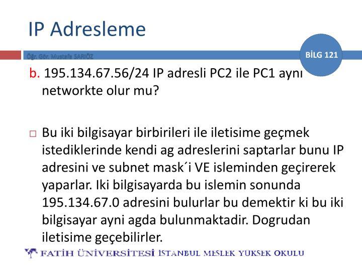 IP Adresleme