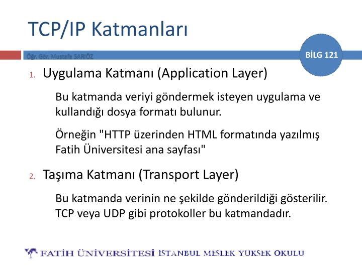 Tcp ip katmanlar