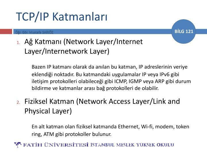 TCP/IP Katmanları