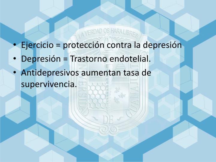 Ejercicio = protección contra la depresión