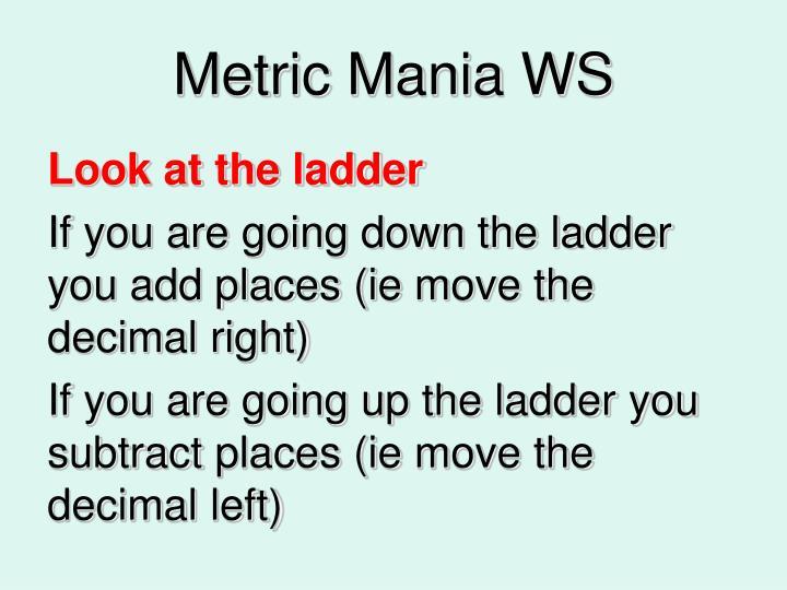 Metric Mania WS