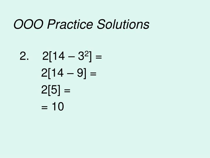 OOO Practice Solutions