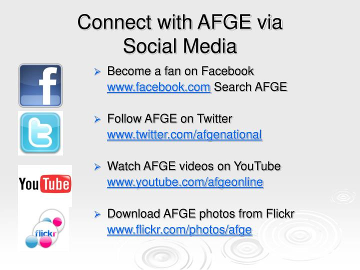 Connect with AFGE via