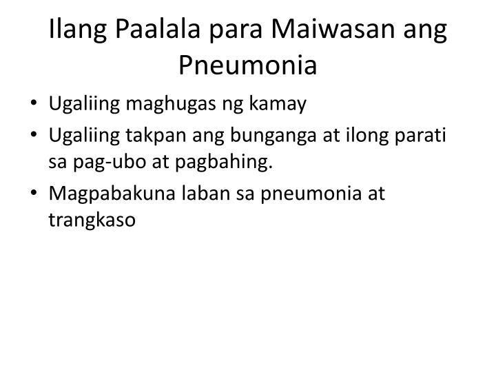 Ilang Paalala para Maiwasan ang Pneumonia