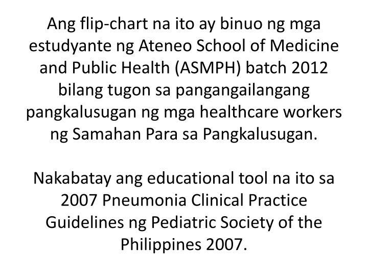Ang flip-chart na ito ay binuo ng mga estudyante ng