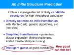 ab initio structure prediction