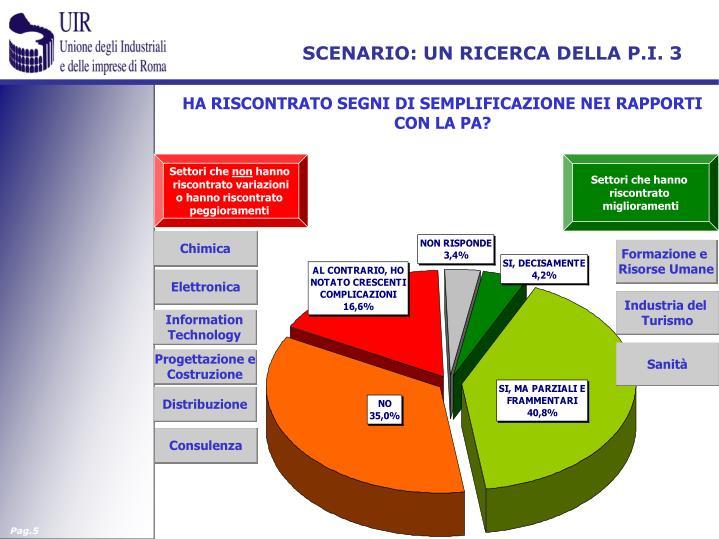 SCENARIO: UN RICERCA DELLA P.I. 3