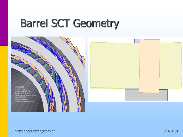 Barrel SCT Geometry