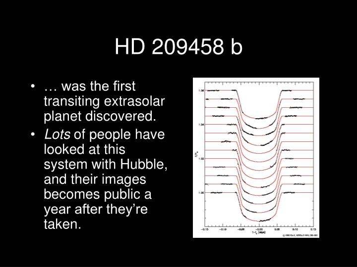 HD 209458 b