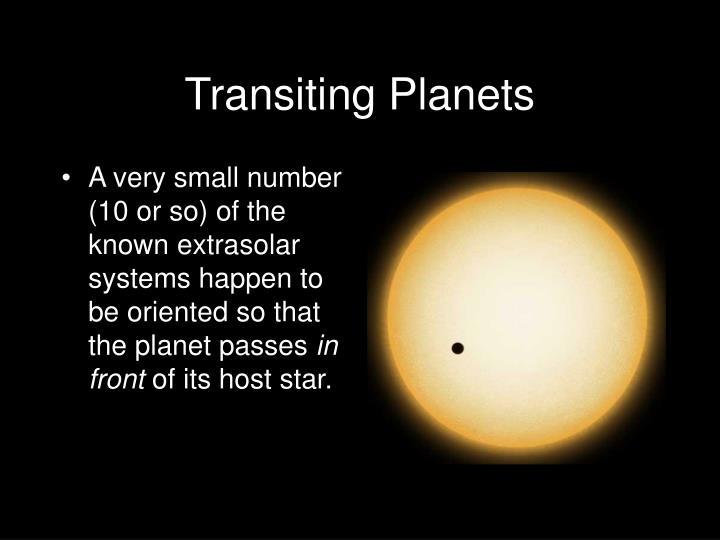 Transiting Planets