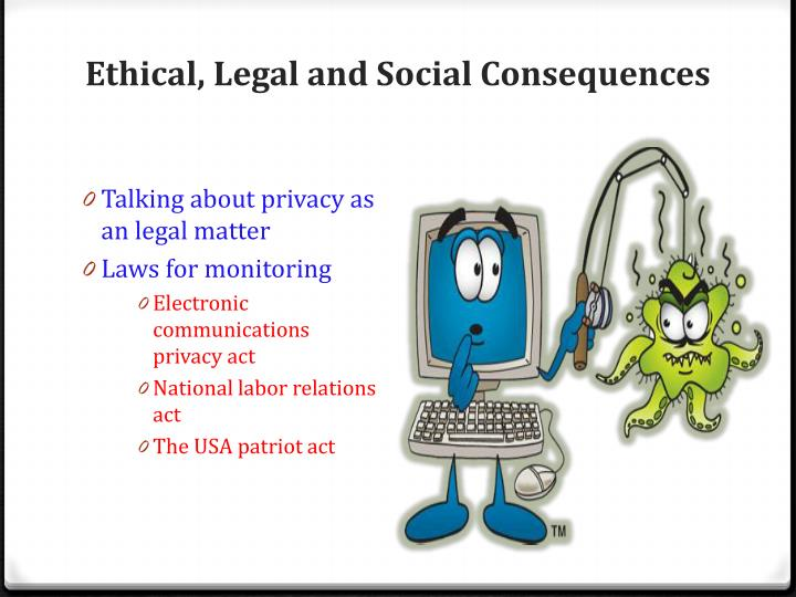 Ethical, Legal and Social Consequences