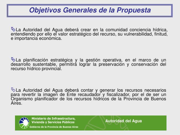 Objetivos Generales de la Propuesta