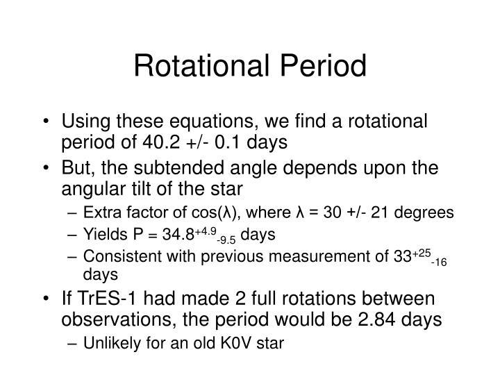 Rotational Period