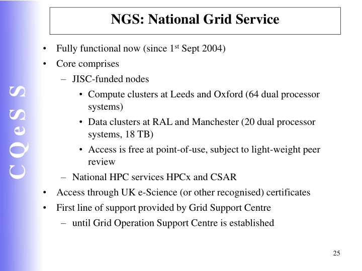 NGS: National Grid Service