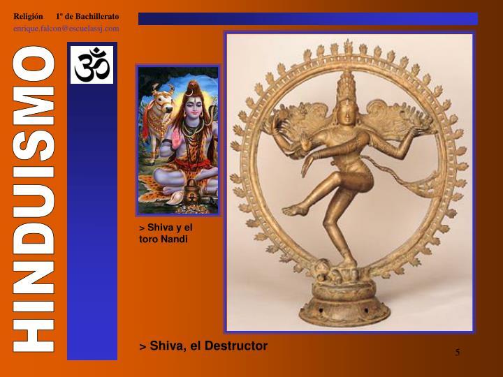 > Shiva y el toro Nandi