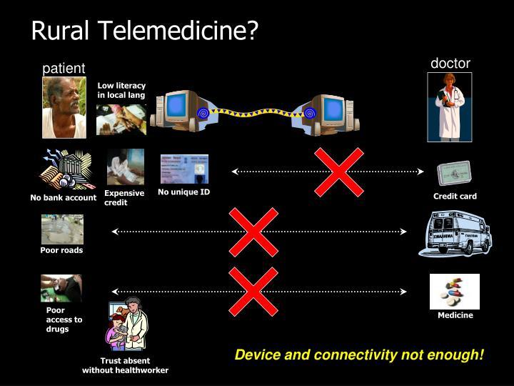 Rural Telemedicine?