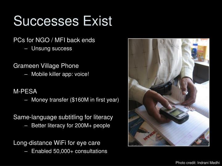 Successes Exist