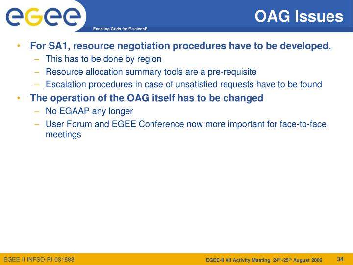 OAG Issues