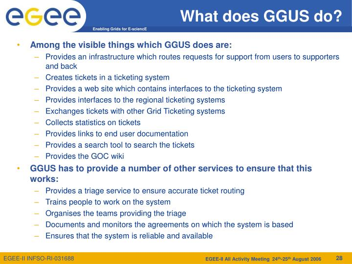 What does GGUS do?
