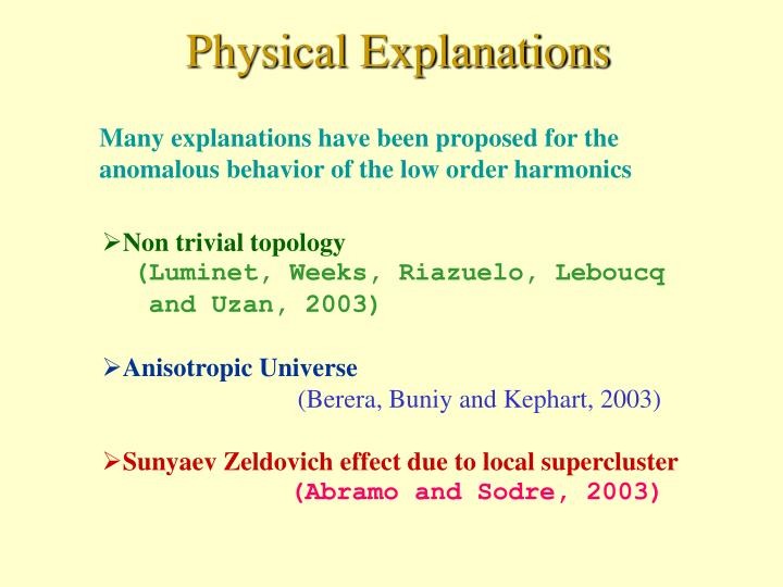 Physical Explanations