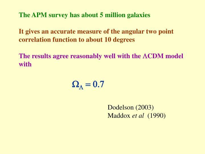 The APM survey has about 5 million galaxies