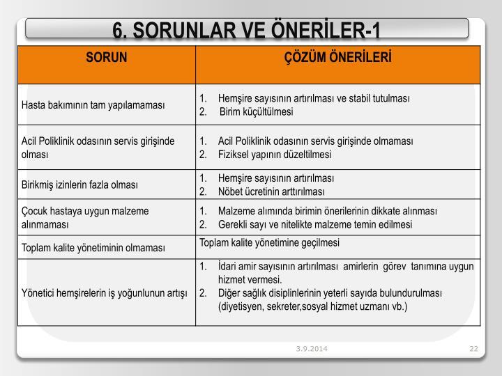6. SORUNLAR VE ÖNERİLER-1