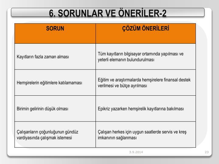6. SORUNLAR VE ÖNERİLER-2