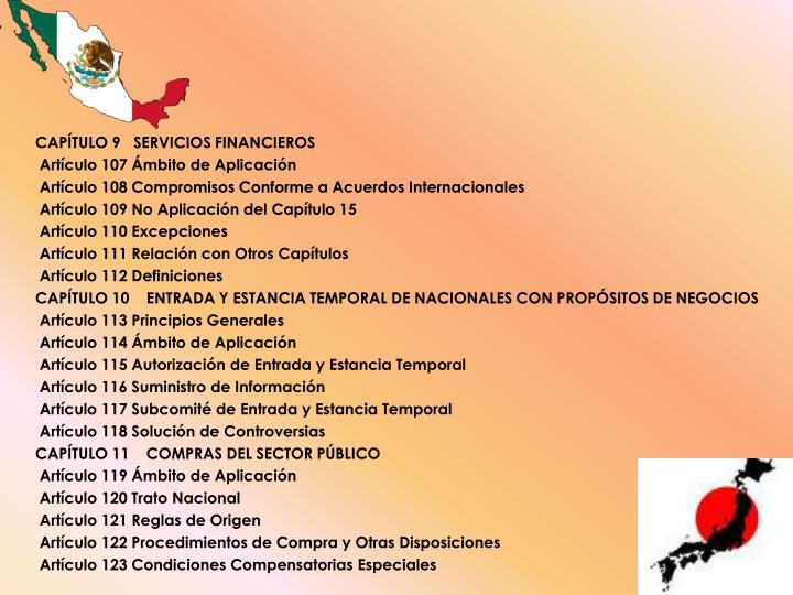 CAPÍTULO 9   SERVICIOS FINANCIEROS