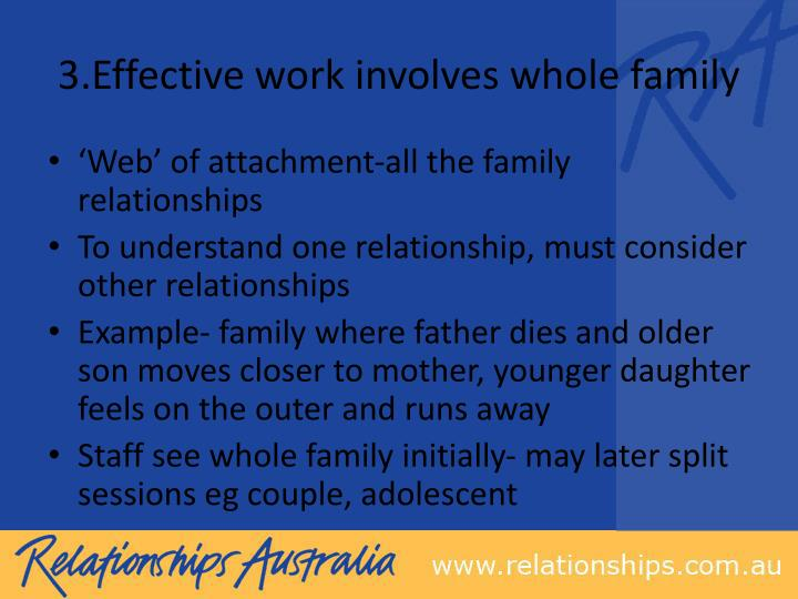 3.Effective work involves whole family