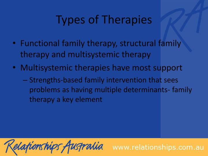 Types of Therapies