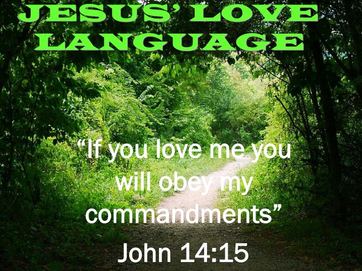 Jesus love language