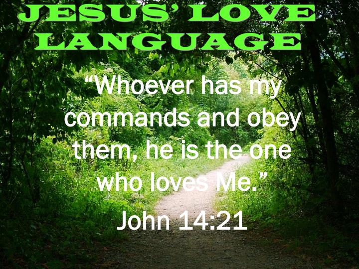 Jesus love language1