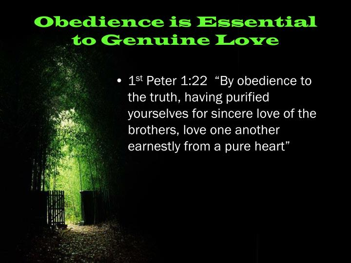 Obedience is Essential to Genuine Love