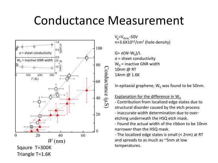 Conductance Measurement
