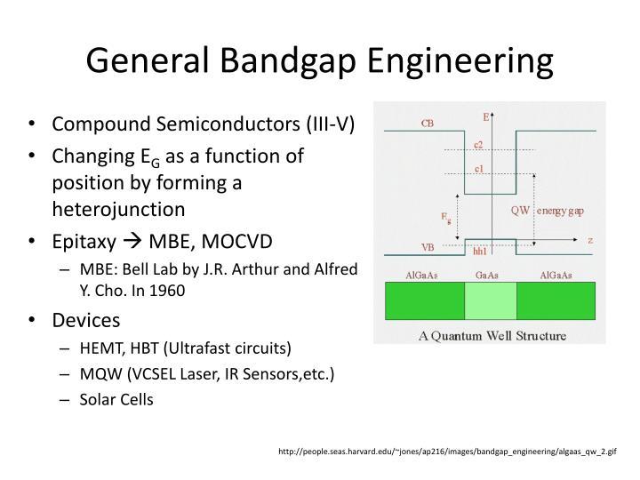 General Bandgap Engineering