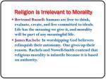religion is irrelevant to morality