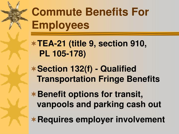 Commute Benefits For Employees
