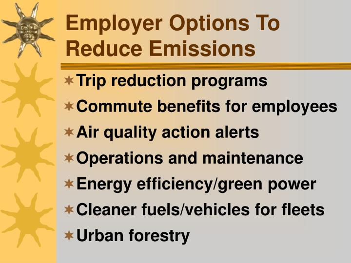 Employer Options To Reduce Emissions
