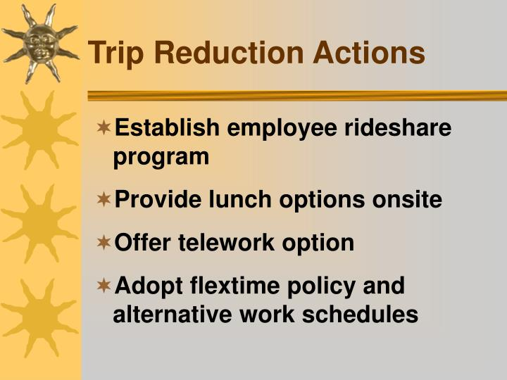 Trip Reduction Actions