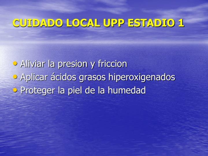 CUIDADO LOCAL UPP ESTADIO 1