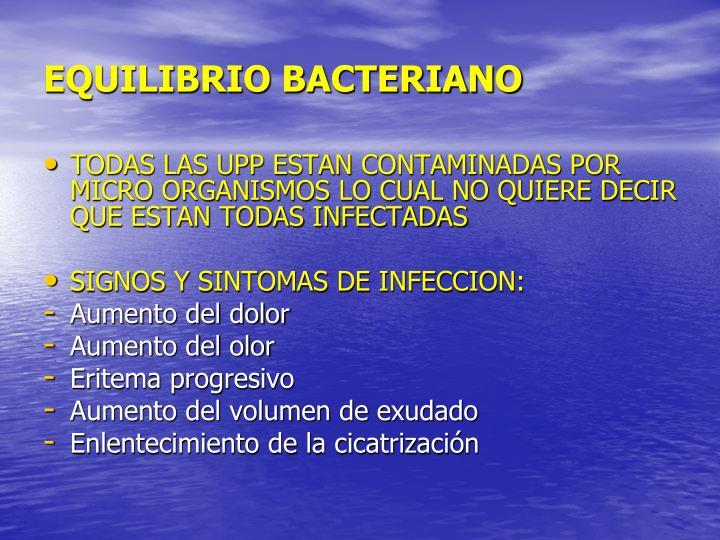 EQUILIBRIO BACTERIANO