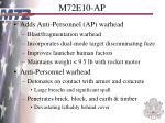m72e10 ap