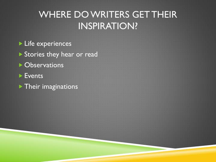 Where do writers get their Inspiration?