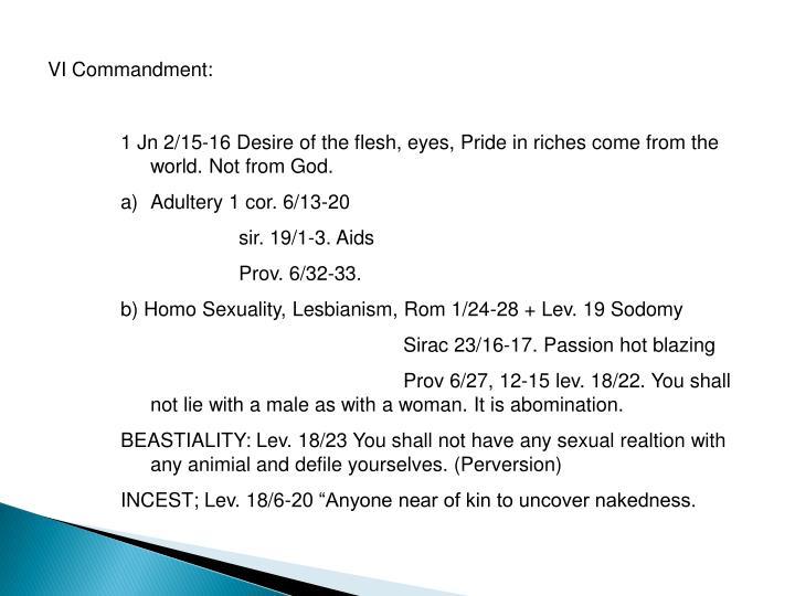 VI Commandment: