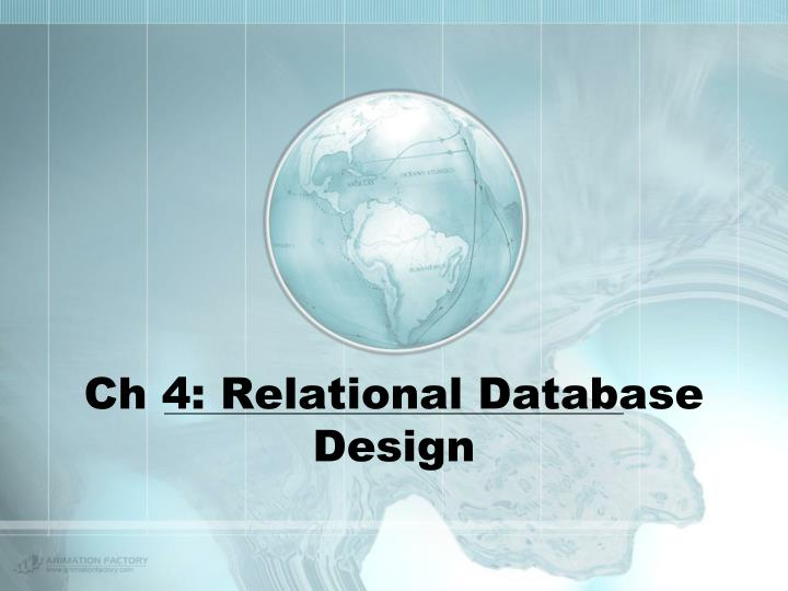 Ch 4 relational database design