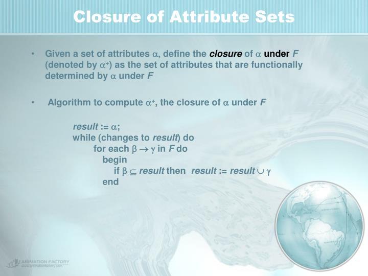 Closure of Attribute Sets