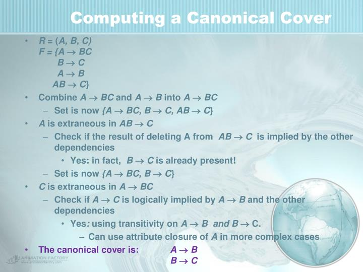 Computing a Canonical Cover