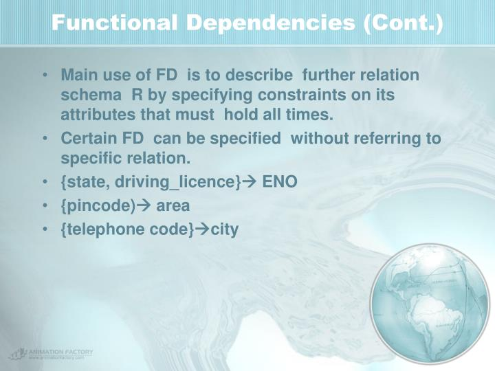 Functional Dependencies (Cont.)